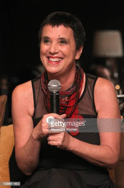 Writer Eve Ensler attends Eve Ensler and V-Day celebrate the opening of City of Joy in the DRC held at Soho House on International Women's Day March...
