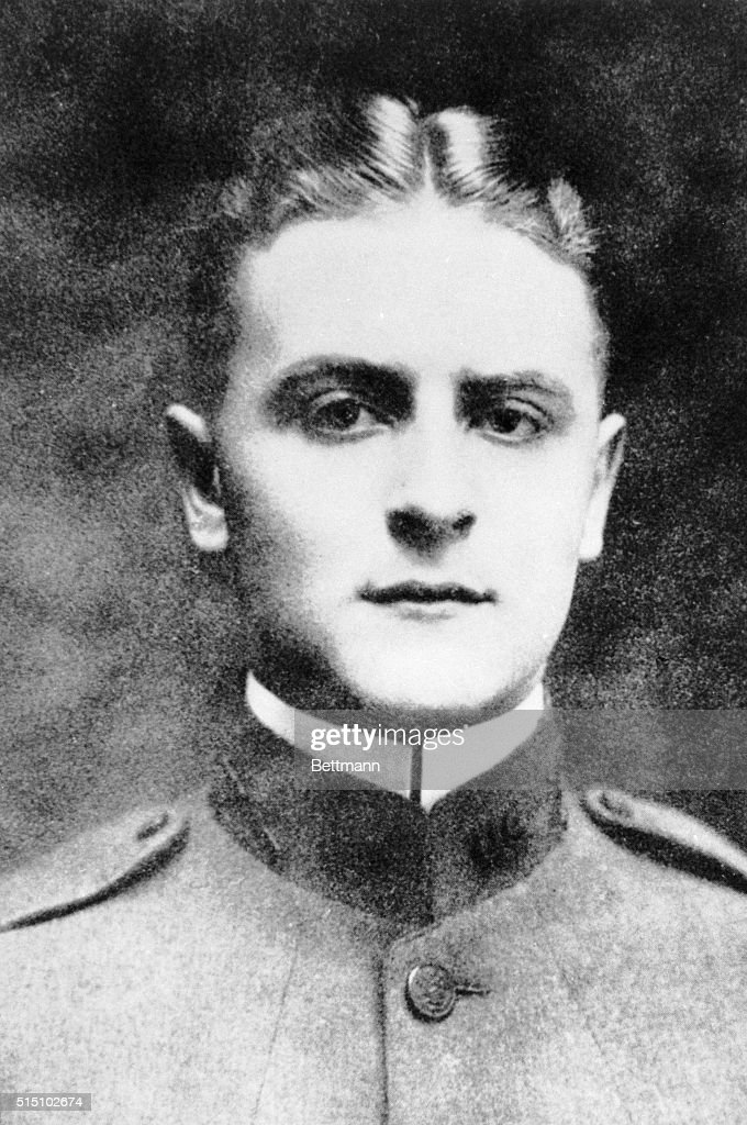 Writer F Scott Fitzgerald During The Time He Was In The Army