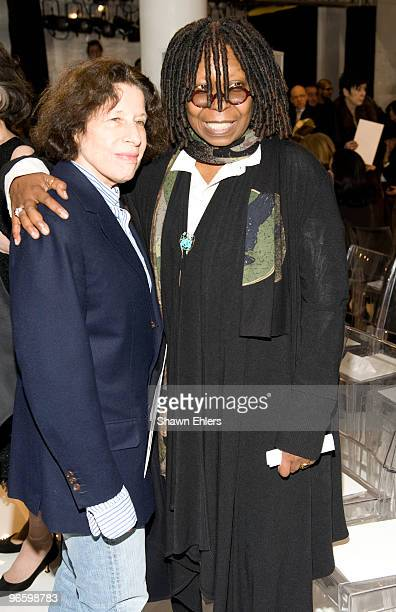 Writer Fran Lebowitz and actress Whoopi Goldberg attends Chado Ralph Rucci Fall 2010 during MercedesBenz Fashion Week at on February 11 2010 in New...