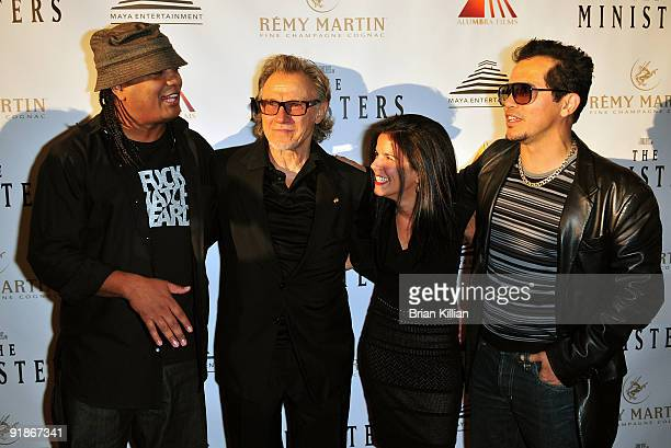 Writer Franc Reyes actor Harvey Keitle producer Jill Footlick and actor John Leguizamo attends the premiere of The Ministers at Loews Lincoln Square...