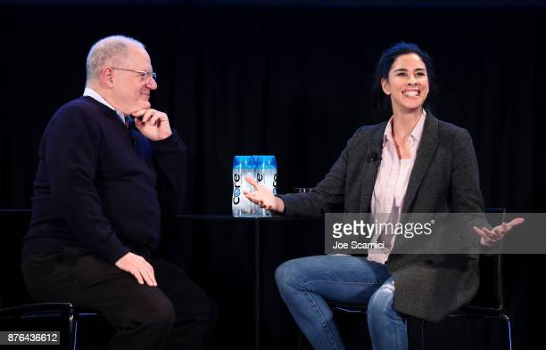 Writer Frank Rich and actor Sarah Silverman speak onstage during the 'State of the Union' event part of Vulture Festival LA presented by ATT at...