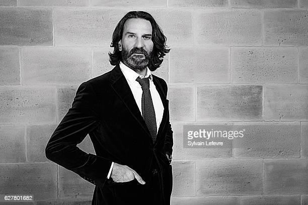 Writer Frederic Beigbeder is photographed for Self Assignment on November 26 2016 in Honfleur France