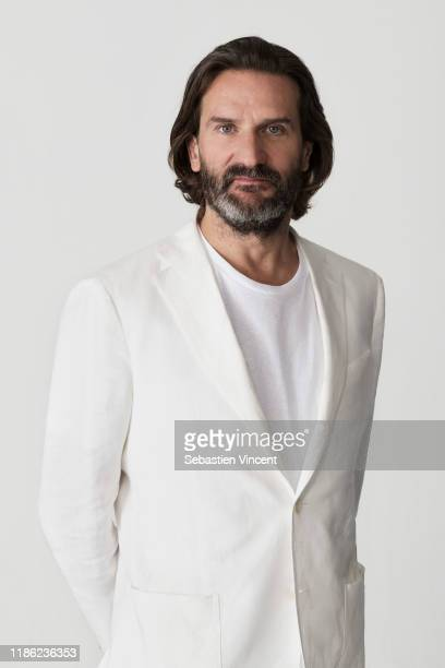Writer Frederic Beigbeder poses for a portrait on November 9, 2019 in Paris, France.