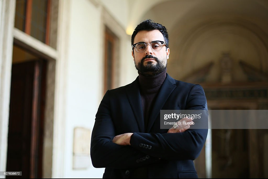 Writer Gabriele Tini attends the Songs Of Stone' By Gabriele Tinti at Museo Nazionale Romano Palazzo Altemps on December 4, 2016 in Rome, Italy.