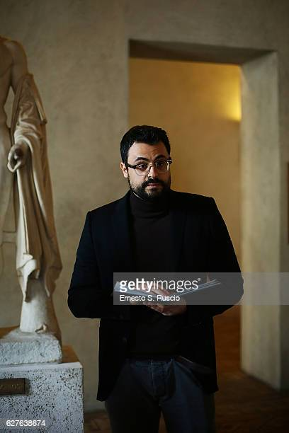Writer Gabriele Tini attends the Songs Of Stone' By Gabriele Tinti at Museo Nazionale Romano Palazzo Altemps on December 4 2016 in Rome Italy