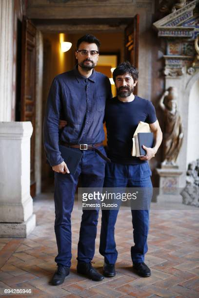 Writer Gabriele Tinti and actor Luigi Lo Cascio read 'Rovine' by Gabriele Tinti at Palazzo Altemps on June 9 2017 in Rome Italy