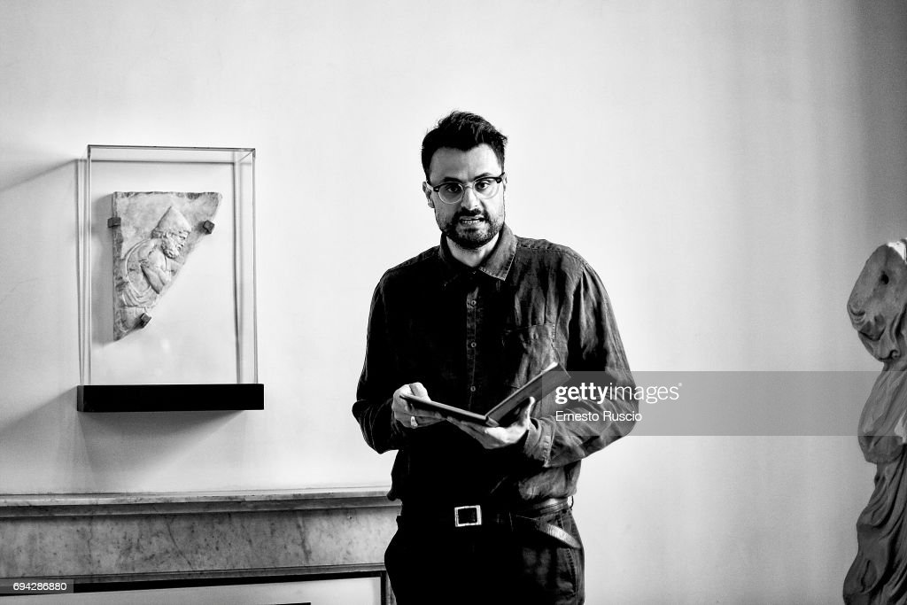 Writer Gabriele Tinti reads 'Rovine' by Gabriele Tinti at Palazzo Altemps on June 9, 2017 in Rome, Italy.