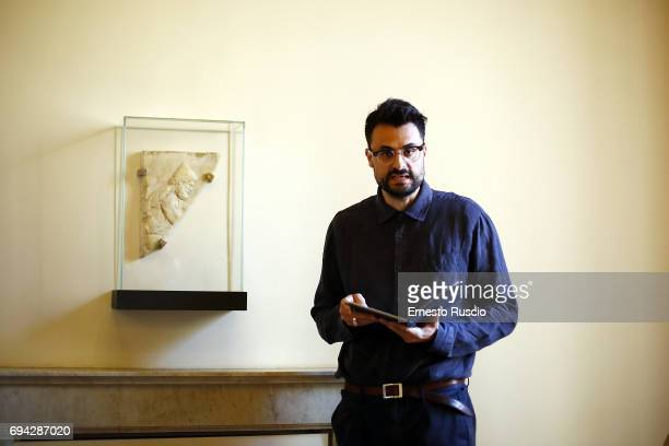 Writer Gabriele Tinti reads 'Rovine' by Gabriele Tinti at Palazzo Altemps on June 9 2017 in Rome Italy