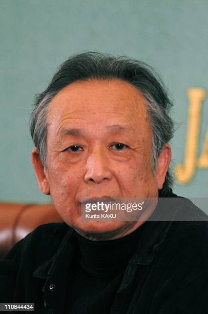 Writer Gao Xingjian In Tokyo Japan On September 27 2010 Press Conference by Nobel prize winner for Novel section in 2000 Gao Xingjian is invited by...