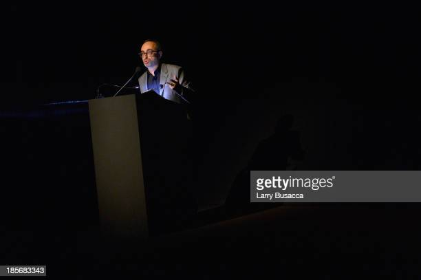 Writer Gary Shteyngart speaks during PRADA Journal A Literary Contest In Collaboration With Feltrinelli Editore at the Prada Epicenter Store on...