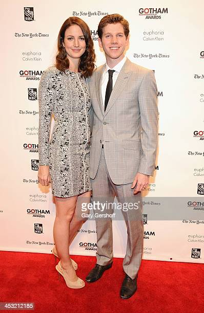 Writer Gemma Clarke and actor Stark Sands attend the 23rd annual Gotham Independent Film Awards at Cipriani Wall Street on December 2 2013 in New...