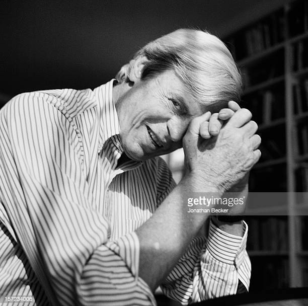 Writer George Plimpton is photographed for Vanity Fair Magazine on September 25 1997 in his office in New York City PUBLISHED IN JONATHAN BECKER 30...