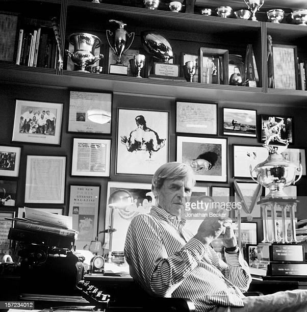 Writer George Plimpton is photographed for Vanity Fair Magazine on September 25, 1997 in his office in New York City. PUBLISHED IN JONATHAN BECKER:...