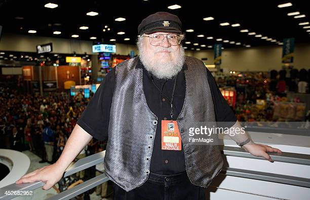 Writer George R R Martin attends HBO's 'Game of Thrones' cast autograph signing during ComicCon 2014 on July 25 2014 in San Diego California