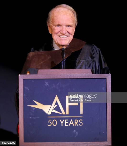 Writer George Stevens Jr speaks during AFI's Conservatory Commencement Ceremony at the TCL Chinese Theatre on June 5 2017 in Hollywood California