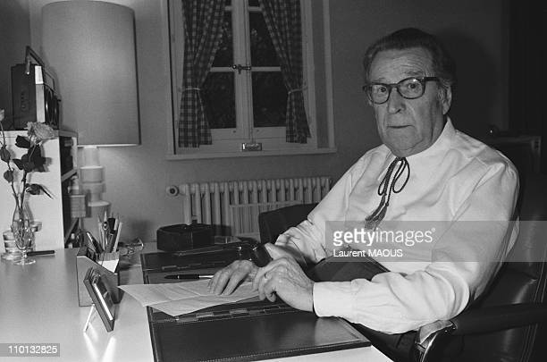 Writer Georges Simenon at home in Lausanne Switzerland on March 12 1982