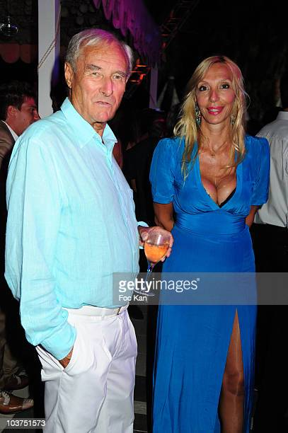 Writer Gerard de Villiers and his wife Sylvie Elias attend the Massimo Gargia Party at the Stefano Restaurant Club on August 24 2010 in Saint Tropez...