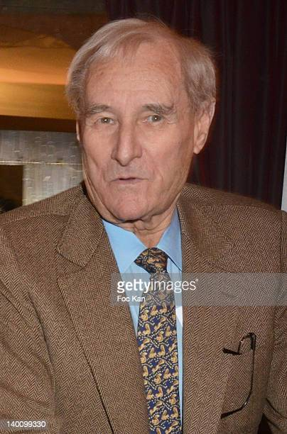 Writer Gerard De Villiers attends the Nadine Rodd Wedding Cocktail Party at Salon Diane at the Fouquet's on February 27 2012 in Paris France