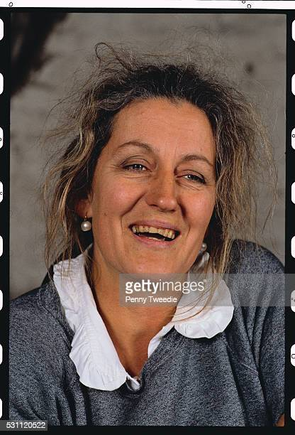 writer germaine greer smiling - germaine greer stock pictures, royalty-free photos & images