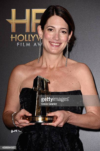 Writer Giillian Flynn poses in the press room during the 18th Annual Hollywood Film Awards at The Palladium on November 14 2014 in Hollywood...