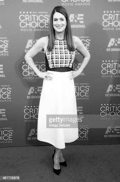 Writer Gillian Flynn arrives at the 20th Annual Critics' Choice Movie Awards at Hollywood Palladium on January 15 2015 in Los Angeles California
