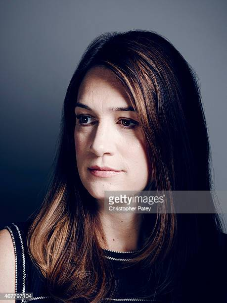 Writer Gillian Flynn is photographed for The Hollywood Reporter on October 24 2014 in Los Angeles California