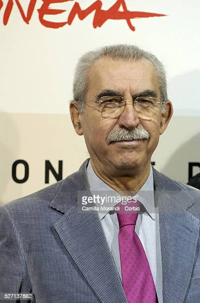 Writer Giulietto Chiesa at the photocall of ZeroInchiesta Sull 11 Settembre during the 2nd annual Rome Film Festival
