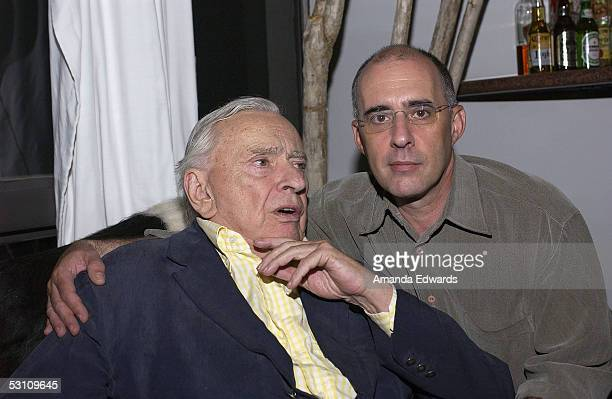 Writer Gore Vidal and IWT Chairman Paul Jay attend An Evening With Gore Vidal at the home of Paul Alan Smith on June 20 2005 in Los Angeles...