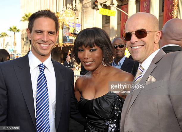 Writer Greg Berlanti actress Angela Bassett and producer Donald De Line arrive at the Green Lantern Los Angeles Premiere held at at Grauman's Chinese...