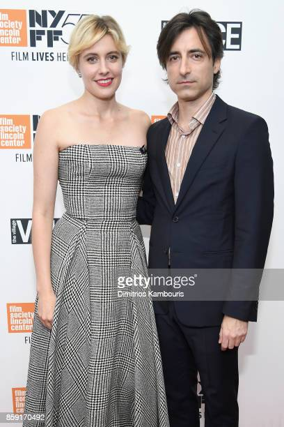 Writer Greta Gerwig and filmmaker Noah Baumbach attend 55th New York Film Festival screening of 'Lady Bird' at Alice Tully Hall on October 8 2017 in...