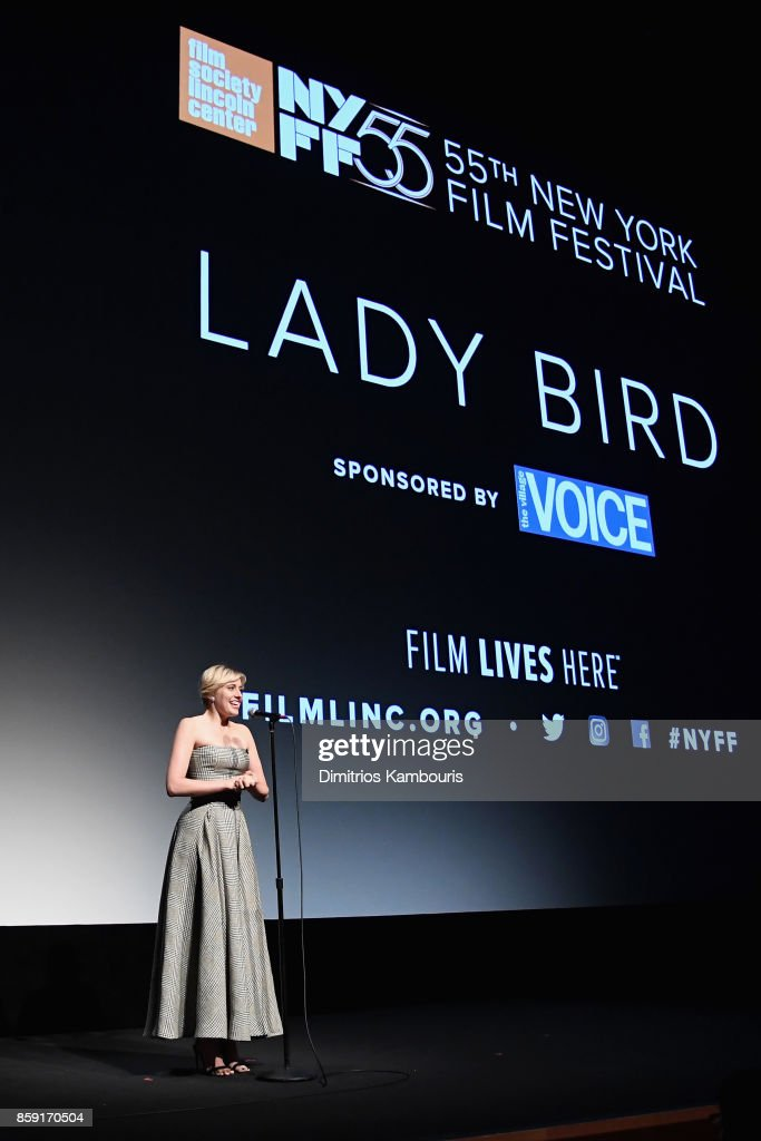 Writer Greta Gerwig onstage during 55th New York Film Festival screening of 'Lady Bird' at Alice Tully Hall on October 8, 2017 in New York City.