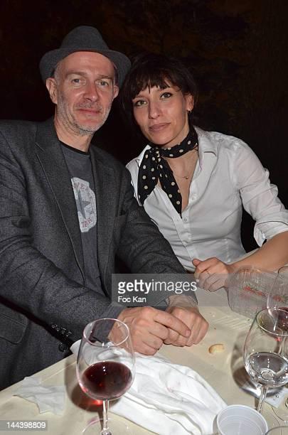Writer Guillaume Laurent and actor Julie Debazac attend the 'Journees Nationales du Livre et du Vin 2012' at Bouvet Ladurey Cellars on May 13, 2012...