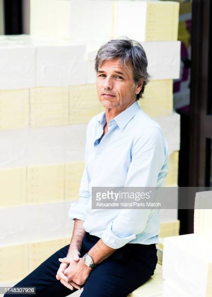 Writer Guy Lagache is photographed for Paris Match on May 22 2019 in Paris France