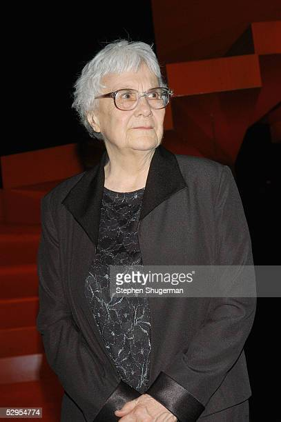 Writer Harper Lee attends the Library Foundation of Los Angeles 2005 Awards Dinner honoring Harper Lee at the City National Plaza on May 19, 2005 in...