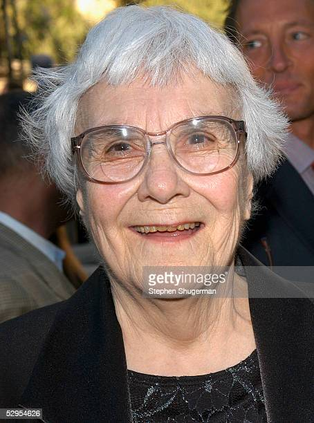 Writer Harper Lee attends the reception prior to the Library Foundation of Los Angeles 2005 Awards Dinner honoring Harper Lee at the Richard J....