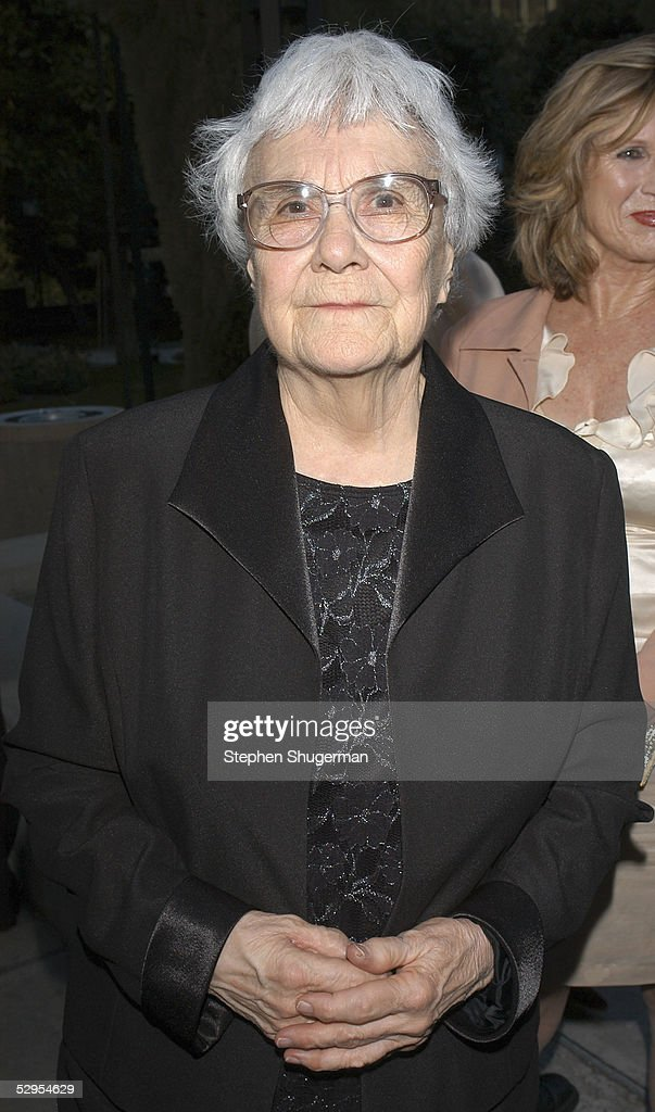 Writer Harper Lee attends the reception prior to the Library Foundation of Los Angeles 2005 Awards Dinner honoring Harper Lee at the Richard J. Riordan Central Library on May 19, 2005 in Los Angeles, California.