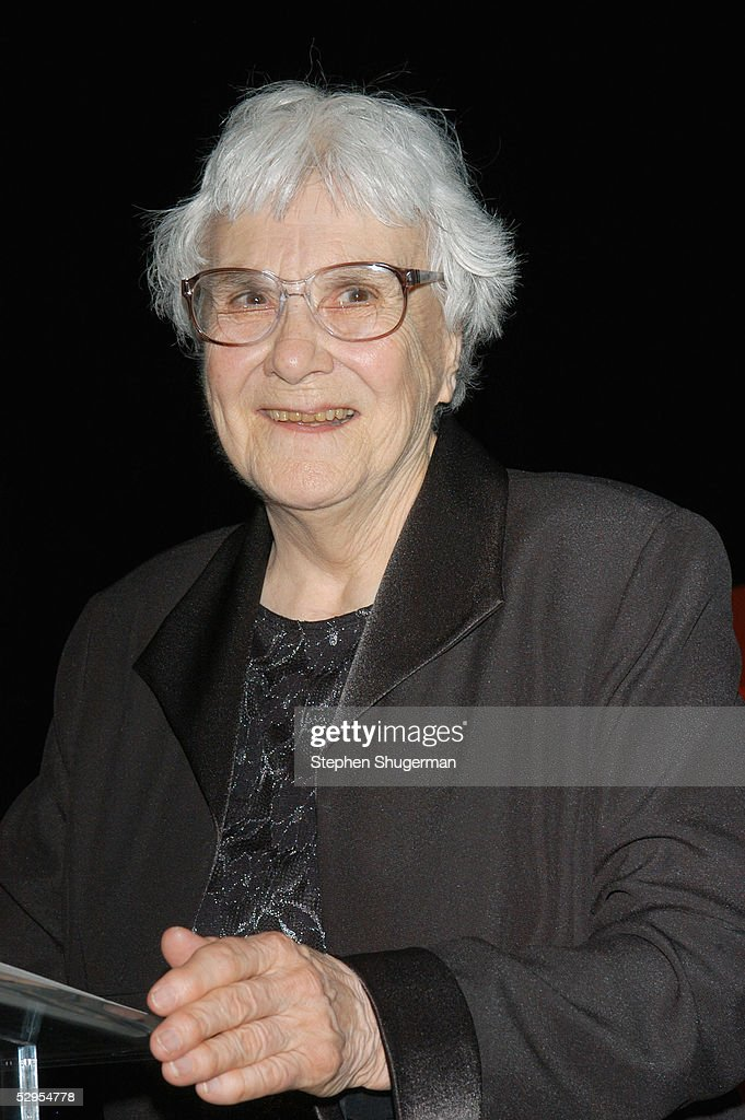 Writer Harper Lee speaks at the Library Foundation of Los Angeles 2005 Awards Dinner honoring Harper Lee at the City National Plaza on May 19, 2005 in Los Angeles, California.