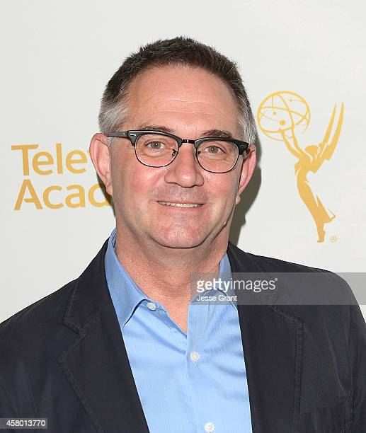 Writer Hart Hanson attends The Television Academy Screening of 'Showrunners The Art of Running a TV Show' at the Leonard H Goldenson Theatre on...