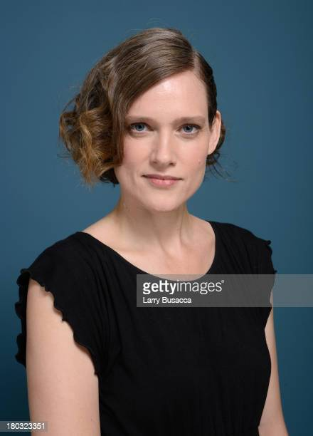Writer Heather O'Neill poses at the Guess Portrait Studio during 2013 Toronto International Film Festival on September 11 2013 in Toronto Canada