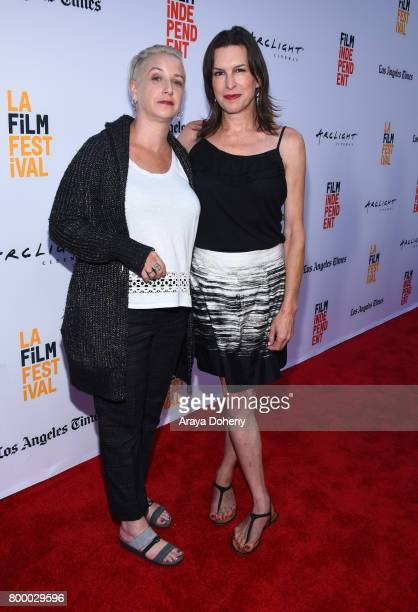 Writer Helen Boyd Kramer and Rachel Crowl attend the Closing Night Screening of Ingrid Goes West during the 2017 Los Angeles Film Festival at...