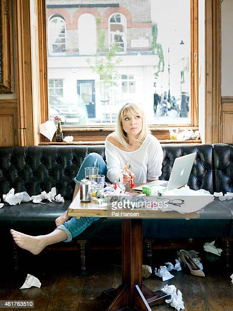 Writer Helen Fielding is photographed for the Sunday Times magazine on September 3 2013 in London England