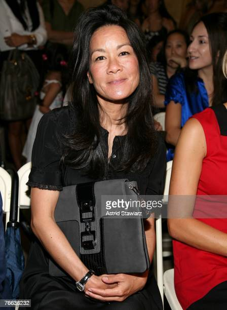 Writer Helen Lee Schifter at the Jill Stuart 2008 Fashion Show at the NY Public Library during the MercedesBenz Fashion Week Spring 2008 on September...
