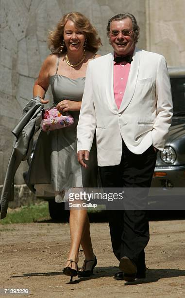 Writer Hellmuth Karasek and his wife Armgard SeegersKarasek attend the wedding of German TV host Guenther Jauch at the Belvedere Palace on July 7...