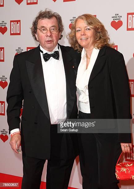 Writer Hellmuth Karasek and his wife Armgard SeegersKarasek attend the Ein Herz fuer Kinder charity telethon gala December 15 2007 in Berlin Germany