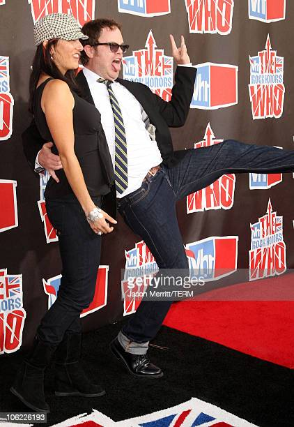 Writer Holiday Reinhorn with husband actor Rainn Wilson arrives at the 2008 VH1 Rock Honors honoring The Who at UCLA's Pauley Pavilion on July 12,...