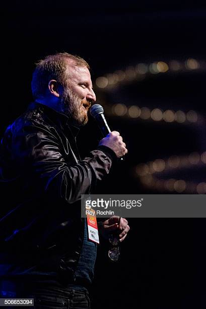 Writer Hunter Bell attends BroadwayCon 2016 at the New York Hilton Midtown on January 24, 2016 in New York City.