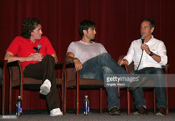 Writer Ian Brennan executive producers Dante Di Loreto and Brad Falchuk attend the panel Q A of 'Glee' during the 27th Annual Los Angeles Gay Lesbian...