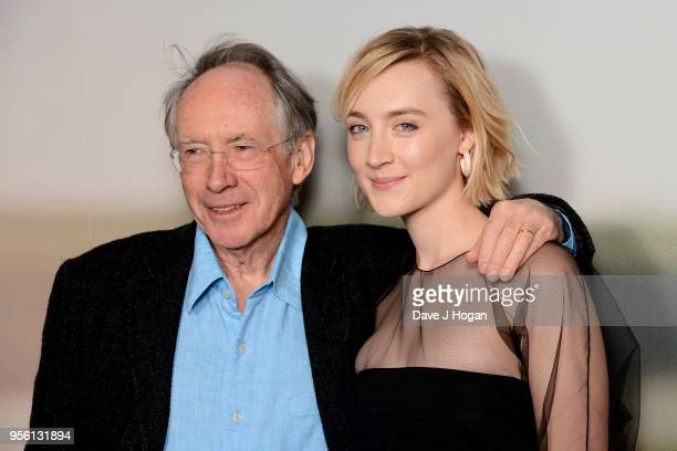 Writer Ian McEwan and Saoirse Ronan attend a special screening of 'On Chesil Beach' at The Curzon Mayfair on May 8 2018 in London England