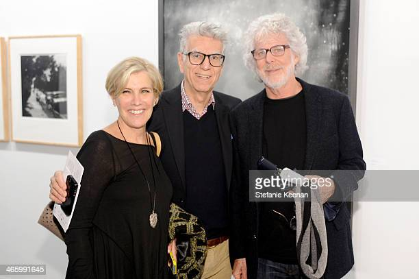 Writer Iris Marden photographer Firooz Zahedi and director Charles Shyer attend the Art Los Angeles Contemporary 2014 opening night at Barker Hangar...