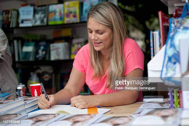 Writer Isabel Sartorius attends a book signing event during 'Books Fair 2012' at the Retiro Park on June 3 2012 in Madrid Spain